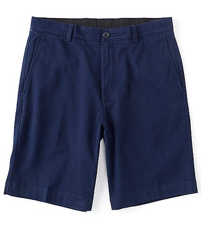 Roundtree & Yorke 9#double; Inseam Flat-Front Washed Chino Shorts
