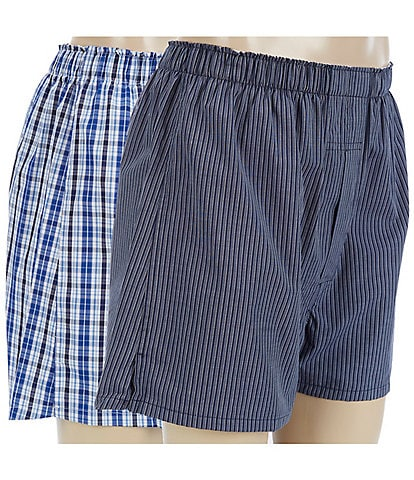 Roundtree & Yorke Assorted 2-Pack Full Cut Boxers