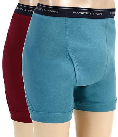 Roundtree & Yorke Assorted Boxer Briefs 2-Pack