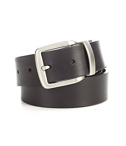 Roundtree & Yorke Basic Cut Edge Reversible Leather Belt