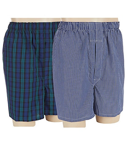 Roundtree & Yorke Big & Tall 2-Pack Full Cut Boxers