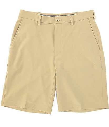 Roundtree & Yorke Big & Tall 9#double; and 11#double; Inseam Flat Front Performance Texture Shorts