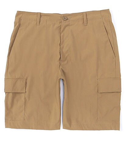 Roundtree & Yorke Big & Tall 9#double; and 11#double; Inseam Performance Cargo Shorts