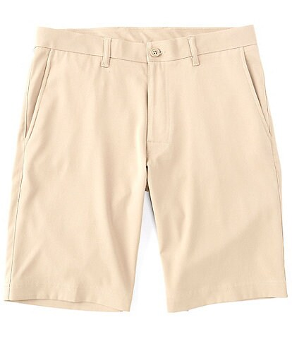Roundtree & Yorke Big & Tall 9#double; and 11#double; Inseam Performance Flat Front Shorts