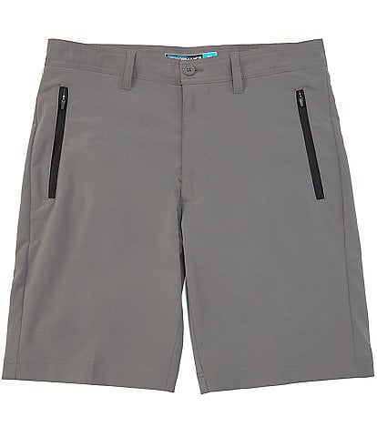 Roundtree & Yorke Big & Tall 9#double; and 11#double;Inseam Flat Front Tech Performance Shorts