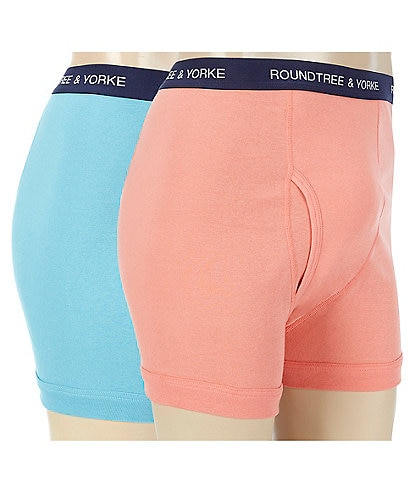 Roundtree & Yorke Big & Tall Assorted Boxer Briefs 2-Pack