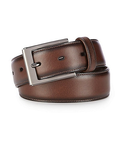 Roundtree & Yorke Big & Tall Brownie Leather Belt