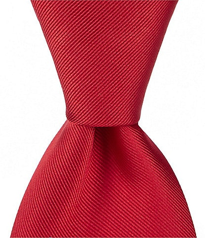 Roundtree & Yorke Big & Tall Cardinal Solid 3 1/8#double; Silk Tie