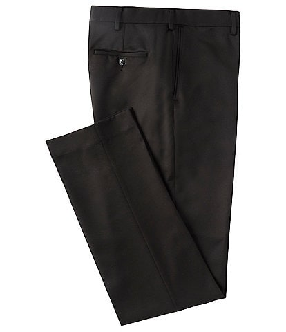 Roundtree & Yorke Big & Tall Classic TravelSmart Flat Front Microfiber Stretch Dress Pants