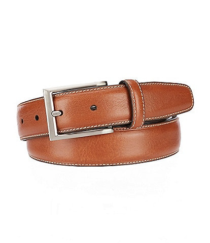 Roundtree & Yorke Big & Tall Contrast-Stich Reversible Belt