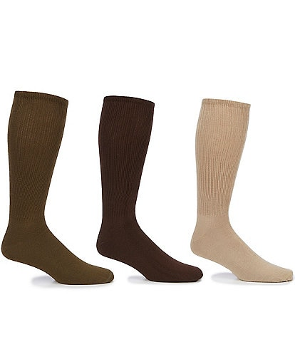 Roundtree & Yorke Big & Tall Crew Socks 3-Pack