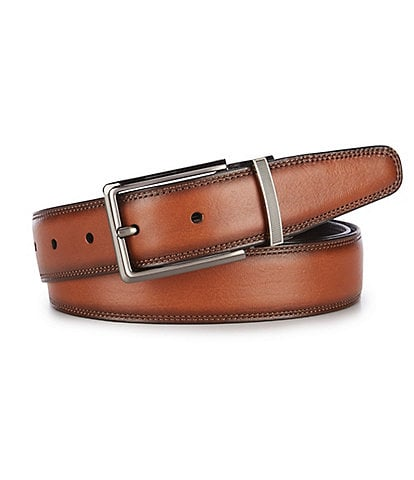 Roundtree & Yorke Big & Tall Double Leather Reversible Belt