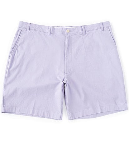 Roundtree & Yorke Big & Tall Flat Front 9#double; and 11#double; Inseam Washed Cotton Shorts