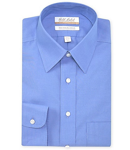 Roundtree & Yorke Big & Tall Non-Iron Full Fit Point Collar Solid Dress Shirt