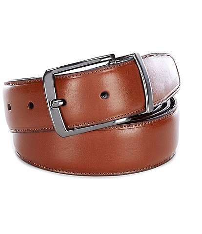 Roundtree & Yorke Big & Tall Old Luggage Reversible Leather Belt