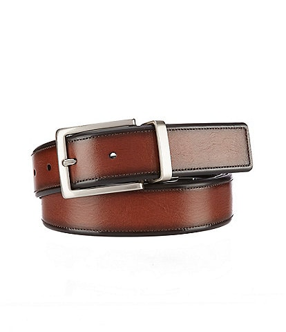 Roundtree & Yorke Big & Tall Old Wine Leather Belt