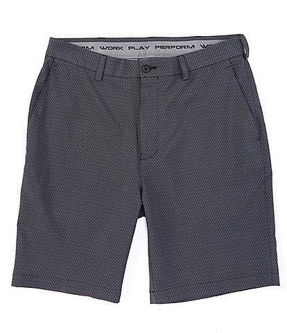 Roundtree & Yorke Big & Tall Performance 9#double; and 11#double; Inseams Flat Front Print CoreComfort Shorts
