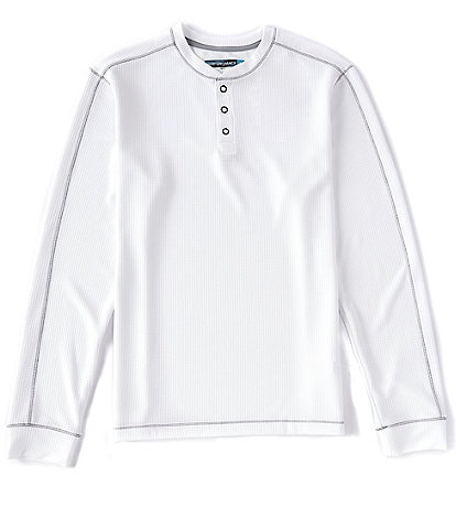 Roundtree & Yorke Big & Tall Performance Long-Sleeve Waffle Henley