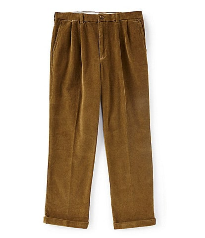 Roundtree & Yorke Big & Tall Pleated Corduroy Pants