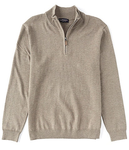 Roundtree & Yorke Big & Tall Quarter Zip Pullover Sweater