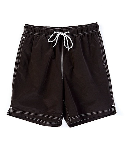 Roundtree & Yorke Big & Tall Solid 8#double; and 10#double; Inseam Swim Trunks