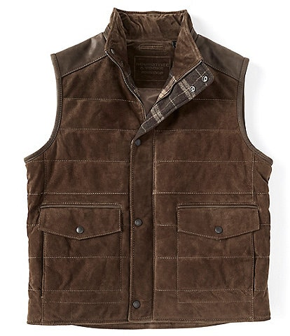 Roundtree & Yorke Big & Tall Suede Leather Vest
