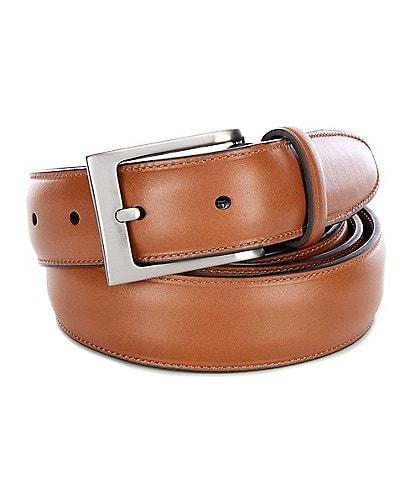 Roundtree & Yorke Big & Tall Timothy Leather Belt