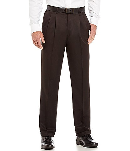 Roundtree & Yorke Big & Tall TravelSmart Non-Iron Pleated Comfort Microfiber Stretch Dress Pants