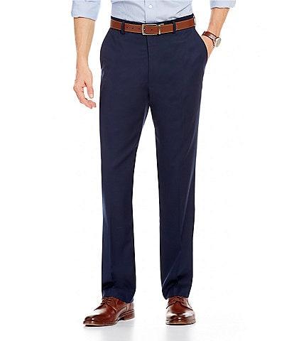 Roundtree & Yorke Big & Tall Travel Smart Comfort Classic Fit Flat Front Non-Iron Twill Dress Pants