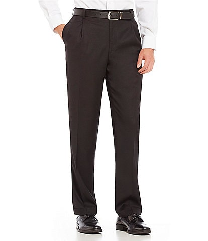 Roundtree & Yorke Big & Tall TravelSmart Ultimate Comfort Classic Fit Pleat Front Non-Iron Twill Dress Pants