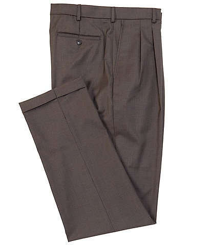 Roundtree & Yorke Big & Tall TravelSmart Pleated Front Relaxed Solid Dress Pants
