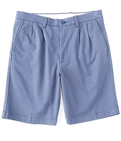 Roundtree & Yorke Big and Tall 9#double; and 11#double; Inseam Pleated Wash Chino Shorts
