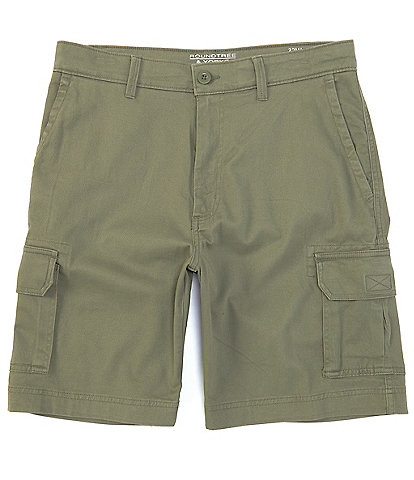 Roundtree & Yorke Big and Tall 9#double; and 11#double; Inseam Wash Cargo Shorts