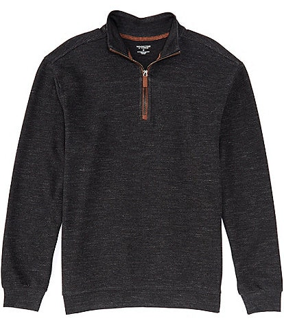 Roundtree & Yorke Big and Tall Long-Sleeve Quarter Zip Pullover