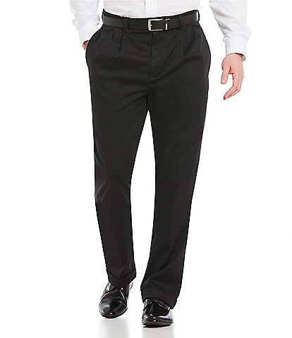 Roundtree & Yorke Big & Tall TotalFLEX Classic Fit Pleated CoreComfort Waistband Easy Care Pants