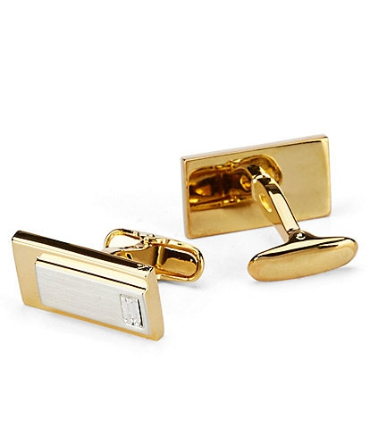 Roundtree & Yorke Block Glitz Cuff Links