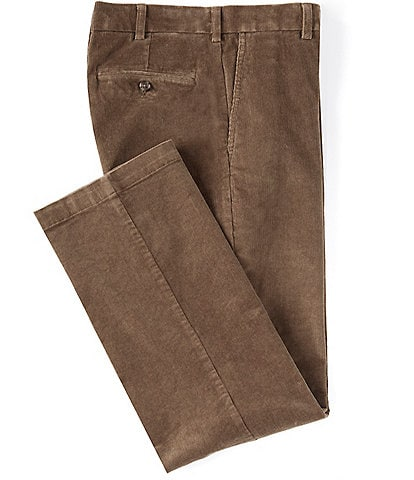 Roundtree & Yorke Classic Fit Flat-Front Corduroy Pants