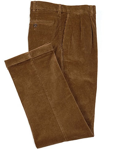 Roundtree & Yorke Classic Fit Pleated Corduroy Pants