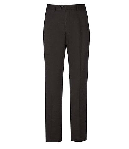 Roundtree & Yorke Classic Fit Travel Smart Flat Front Microfiber Stretch Dress Pants