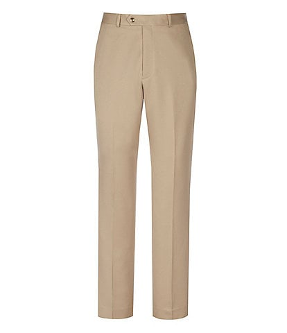 Roundtree & Yorke Travel Smart Non-Iron Flat-Front Ultimate Comfort Microfiber Stretch Dress Pants
