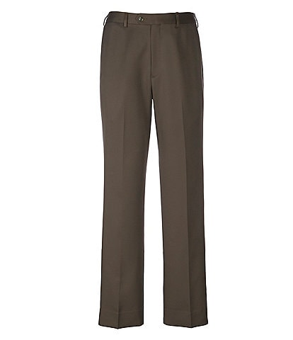 Roundtree & Yorke TravelSmart Non-Iron Flat-Front Ultimate Comfort Microfiber Stretch Dress Pants