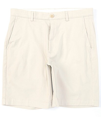 Roundtree & Yorke Flat Front 9#double; Inseam Washed Cotton Shorts