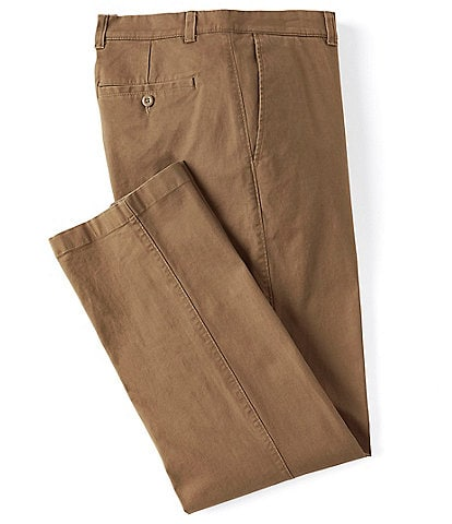 Roundtree & Yorke Flat-Front Washed Chino Pants