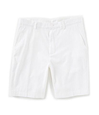 Roundtree & Yorke Flat Front Washed Cotton 9#double; Shorts