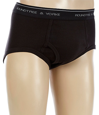 Roundtree & Yorke Full-Cut Briefs 3-Pack
