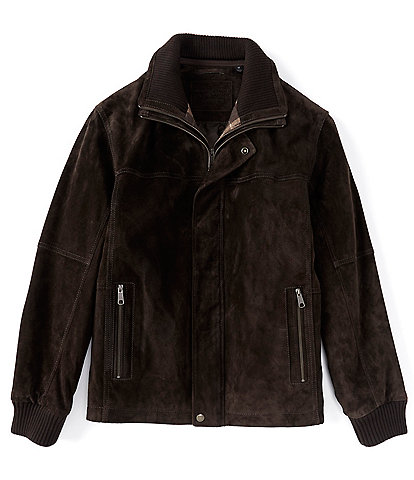 Roundtree & Yorke Genuine Suede Leather Hipster Jacket