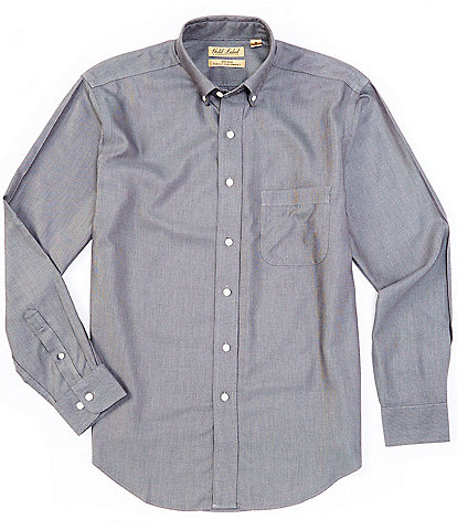 Roundtree & Yorke Gold Label Big & Tall Long-Sleeve Solid Dobby Sportshirt