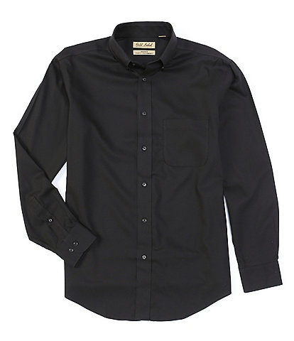 Roundtree & Yorke Gold Label Big & Tall Long Sleeve Solid Dobby Sportshirt