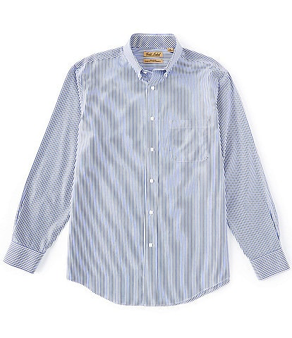 Roundtree & Yorke Gold Label Big & Tall Long-Sleeve Tape Stripe Sportshirt
