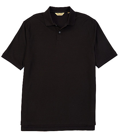 Roundtree & Yorke Gold Label Big & Tall Perfect Performance Short-Sleeve Solid Non-Iron Polo